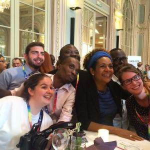 #FMLF2015 - La secrétaire générale de l'OIF Michaëlle Jean en compagnie des participants de l'#hackXplor!