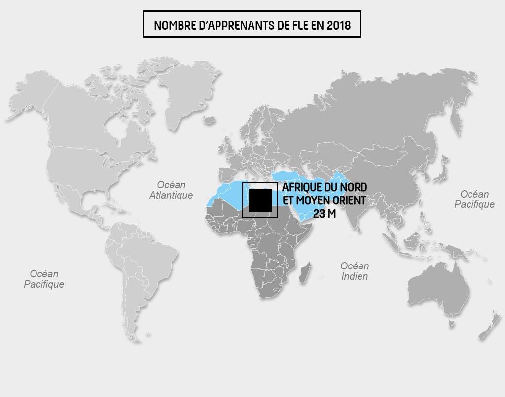 Carte Afrique du Nord-Moyen Orient_FLE2018