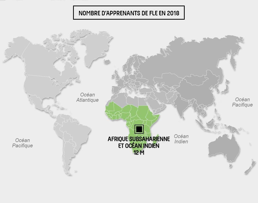Carte Afrique Subsaharienne-Ocean Indien_FLE2018